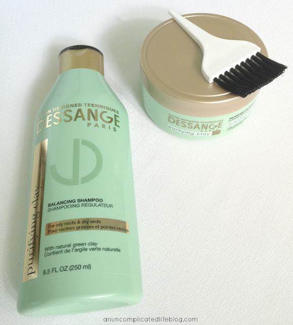 Friday favorites - Dessange clay shampoo and mask for oily hair. Amazing clarifying shampoo!