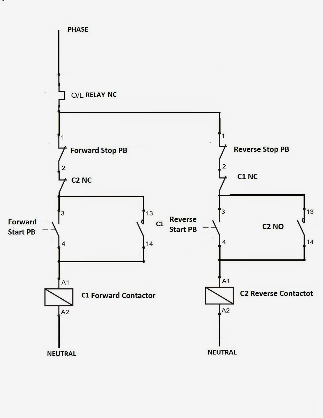 electrical standards direct online applications reverse forward dol reverse forward circuit dol applications