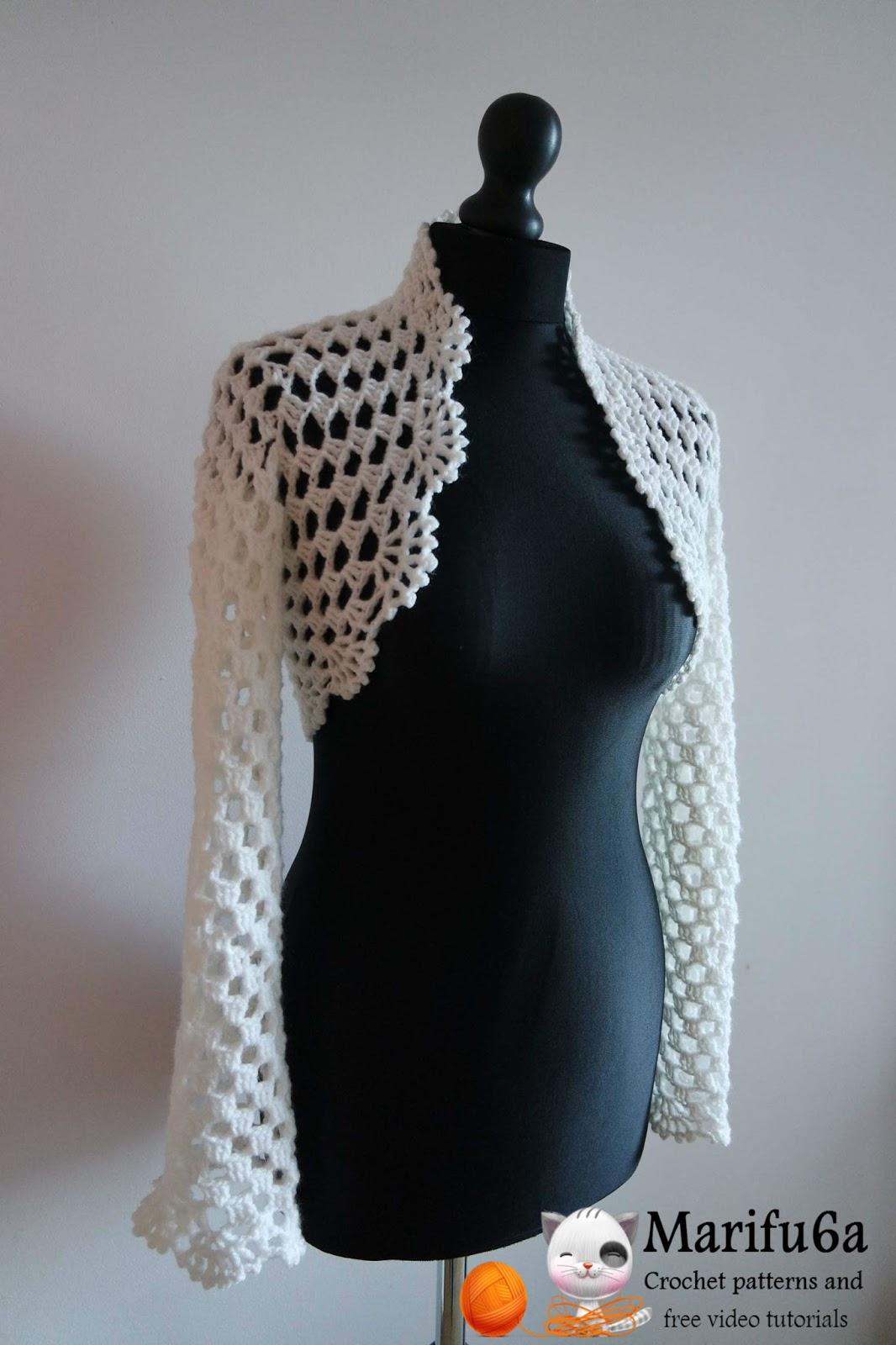 Ручное вязание спицами болеро