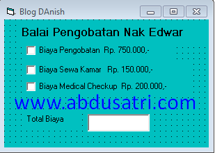 Belajar checkbox di visula basic