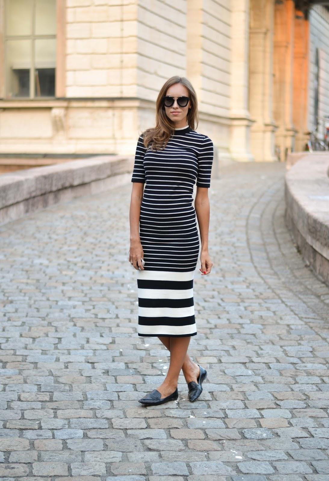 kristjaana mere hm striped knitted set