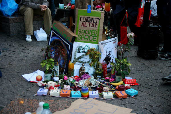 Occupy Wall Street community altar
