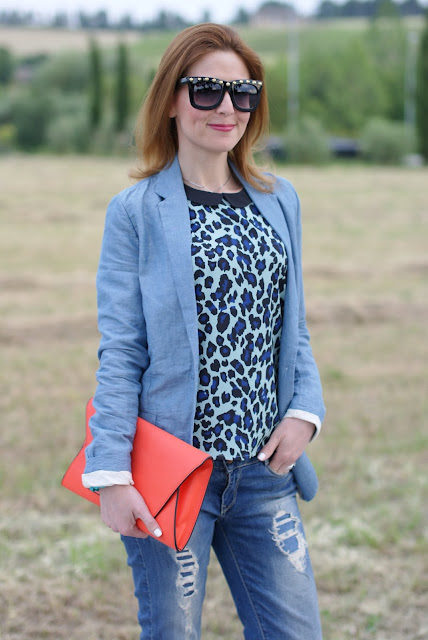 Asos studded sunglasses, Zara orange clutch, Fashion and Cookies