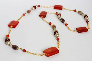 Long Gemstone Necklace by MagsBeadsCreation