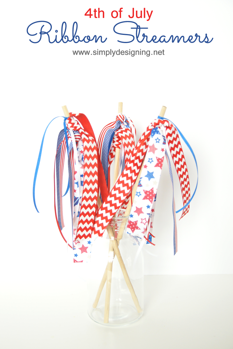 4th of July Ribbon Streamers | #patriotic #4thofJuly #ribbonHOA #kidscraft