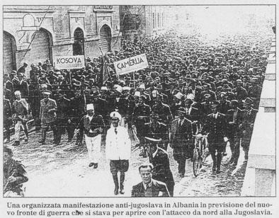 Në Shqipëri protestohet kundër terrorit jugosllav mbi popullin shqiptar