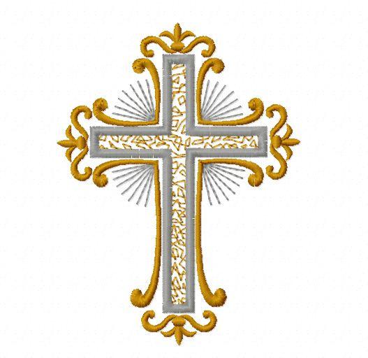 Машинная вышивка православные кресты