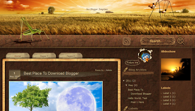 Sunset Farm - Nature Theme Blogger Template