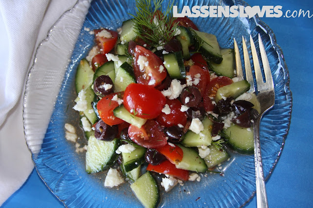 summer+salads, salad+recipes, tomato+Cucumber+salads, recipes+with+dill, dill+recipes, feta+cheese+recipes