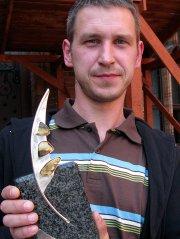 """2009 - Sławomir Elsner za """"Antypody"""" (wśród nagrodzonych i wyróżnionych: Izabela Kawczyńska, Konrad Góra, Krzysztof Kleszcz, Dominik Bielicki, ... - Elsner"""