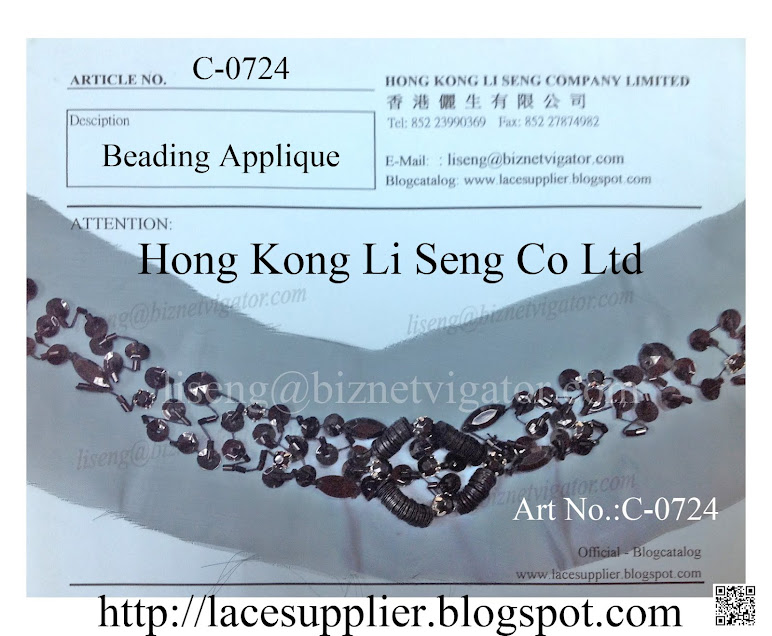 Beading Applique Supplier - Hong Kong Li Seng Co Ltd
