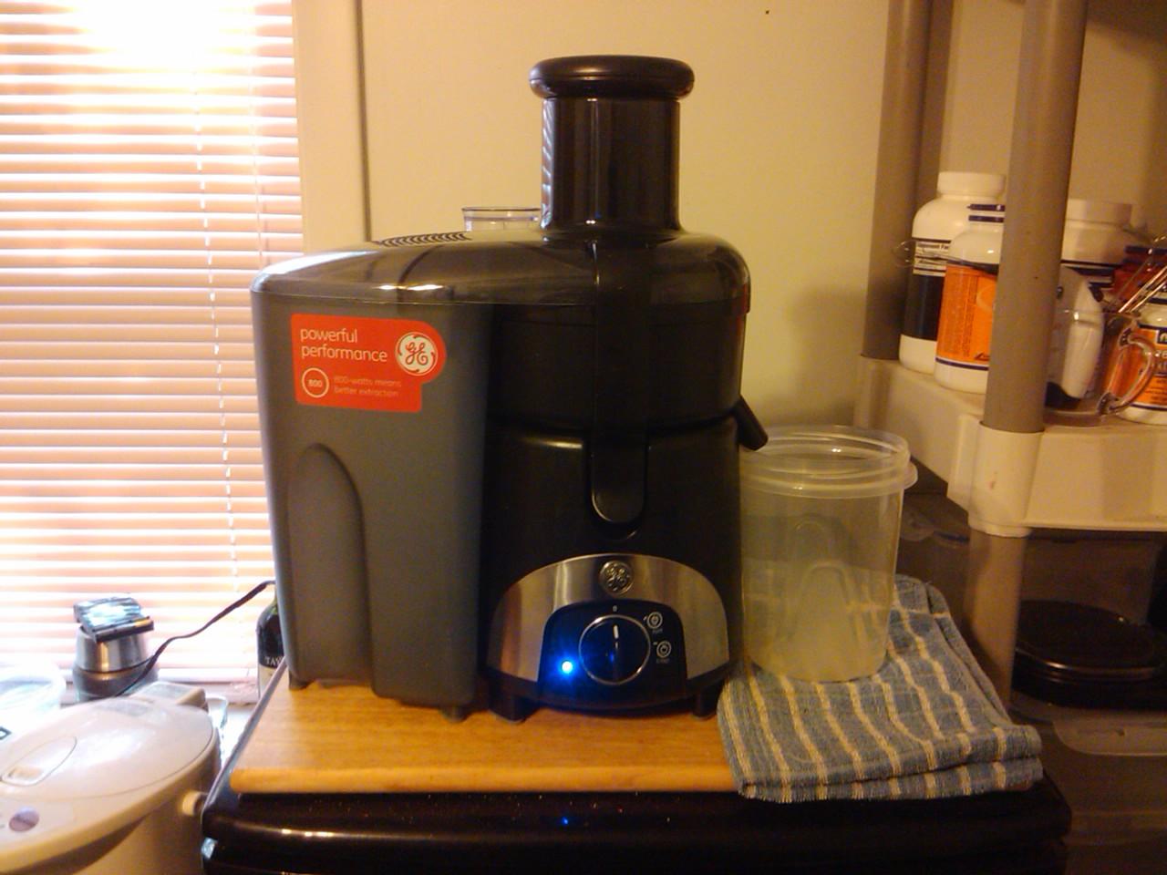 General Electric Juicer ~ Technonomadic review general electric centrifugal juicer