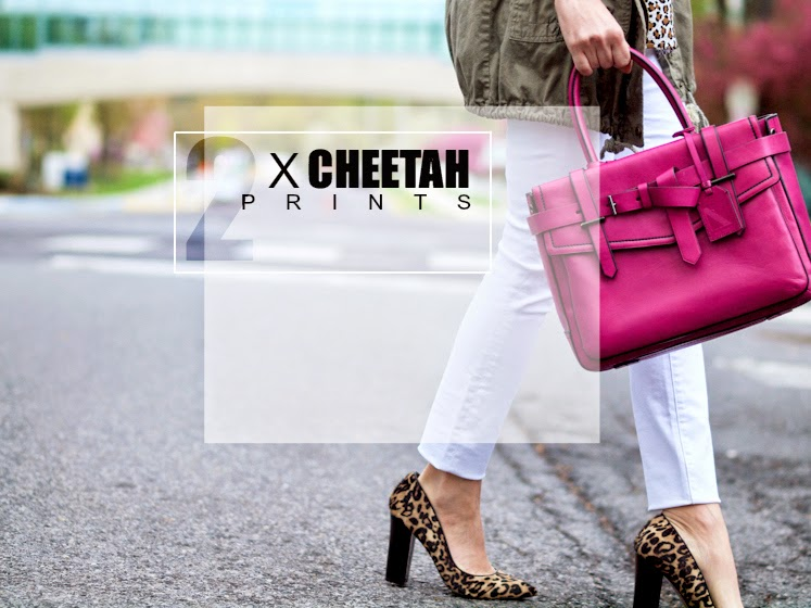 animal print pumps, animal print trend, bittersweet colours, cheetah print, Parka Jacket, Reed Krakoff, Spring, street style, white jeans, worldwide giveaway,