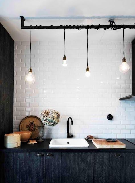 Lampe du selv kan lave smed fatninger om DIY til køkkenbordet, spisebordet eller arbejdsbordet