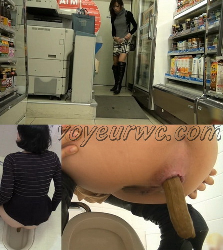 [E64-04] Impatience Girls. Convenience Store Toilet Pooping