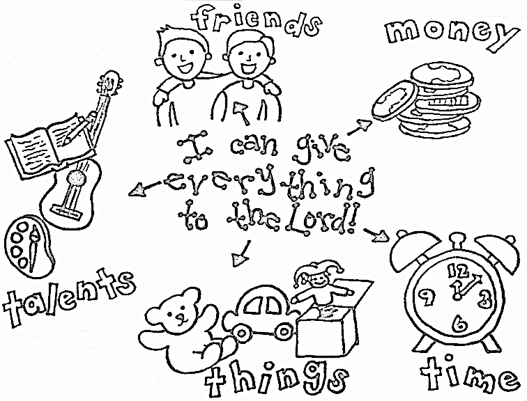tithing coloring pages - photo#5