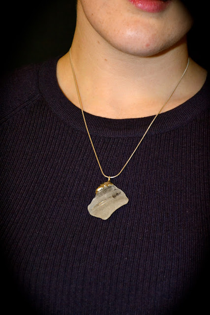Genuine seaglass pendant on a sterling silver chain by Szal Design