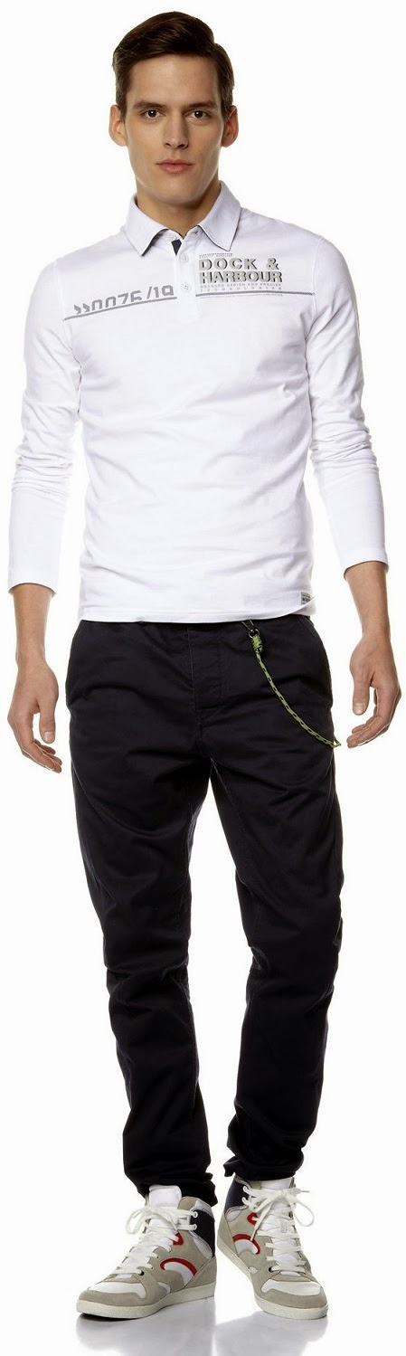 Celio Menswear Extra Slim-Fit 100% Cotton Polo Shirt Spring Summer Collection 2014