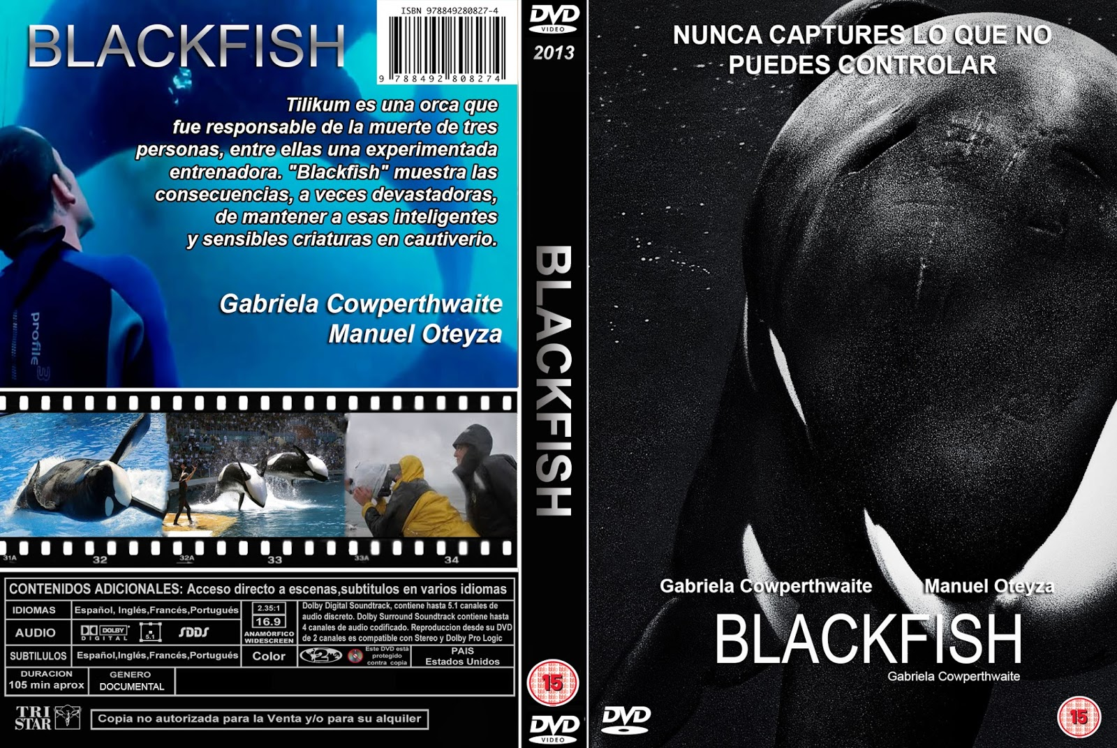 Blackfish Fúria Animal BDRip XviD Dual Áudio BLACKFISH DVD COVER 2013 ESPA C3 91OL
