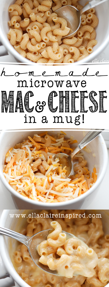 Make a single serving of homemade Macaroni and Cheese in your ...