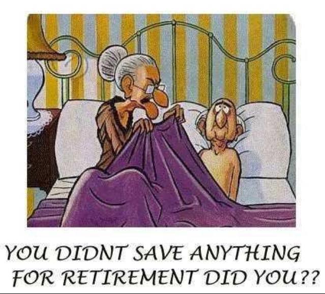 retirement plan, laughing, comic