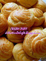 Cream Puff With Creamy Cream Custard