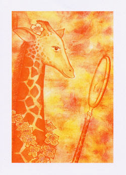 Giraffe Greeting Cards by UK artist Ingrid Sylvestre  - Giorgiana