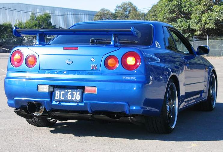 nissan skyline r34 gt r sports car fast speedy cars. Black Bedroom Furniture Sets. Home Design Ideas