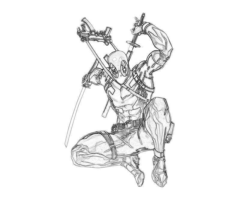 Deadpool Head Coloring Page For Adults
