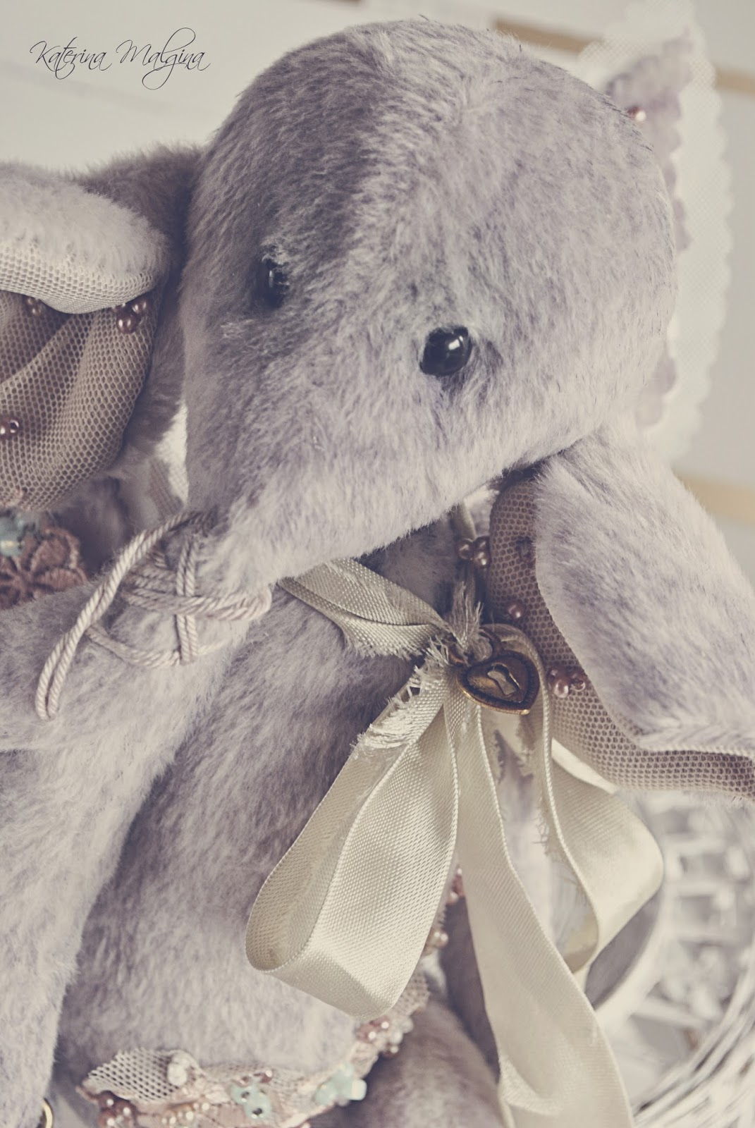 лавандовый слоник тедди