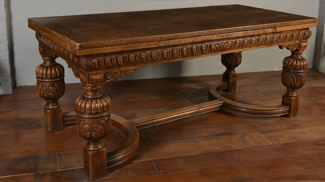 Oak draw - leaf refectory table