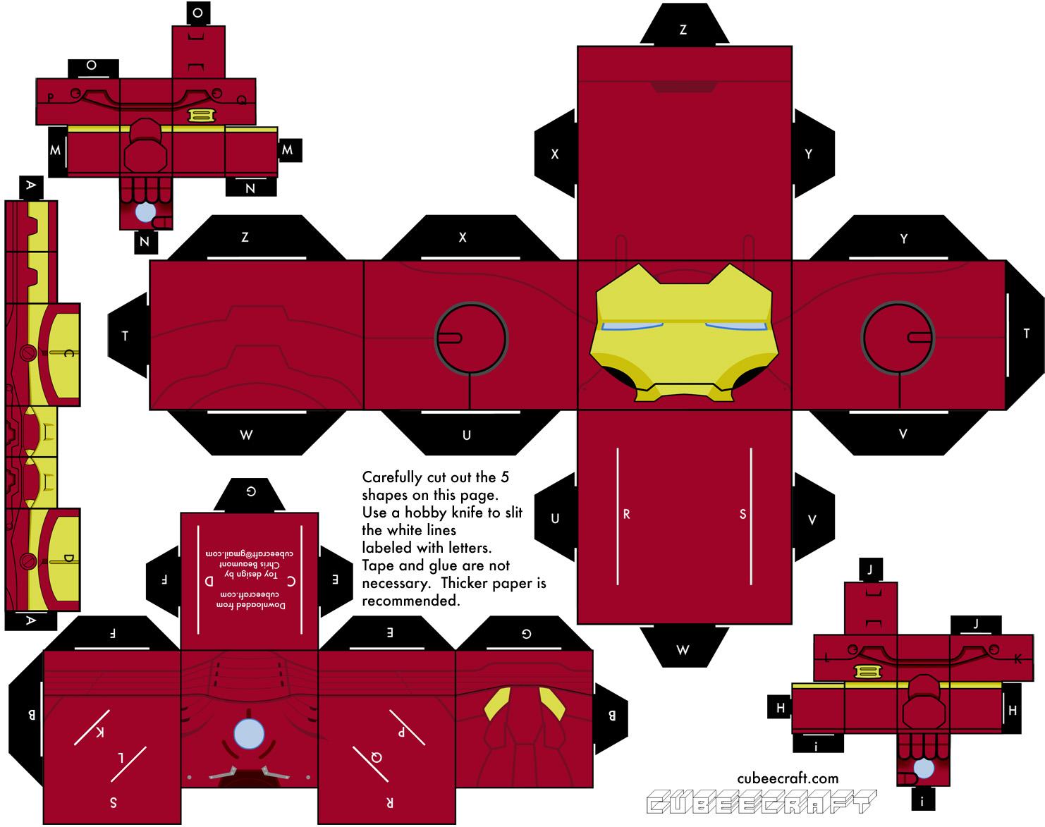 Papercraft Ironman - The Avengers