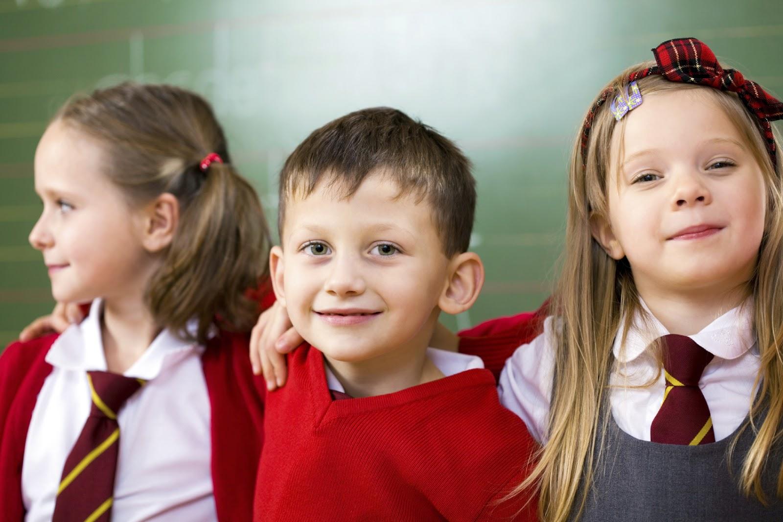 Three+school+ch... School Children