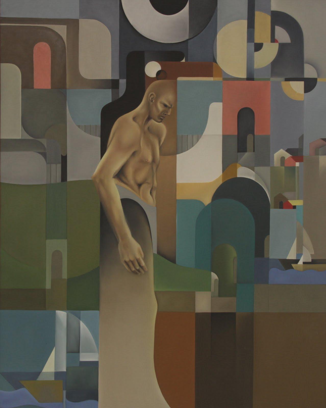 Solange Alves, O Enigma da Porta, óleo sobre tela, 110x140 cm