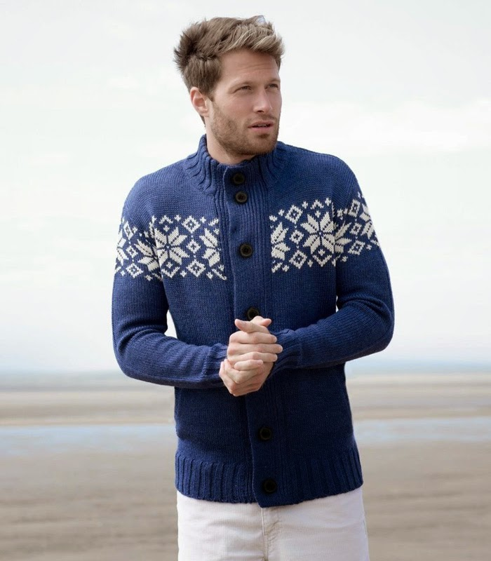 Woolovers Unisex Zip & Button Nordic Cardigan