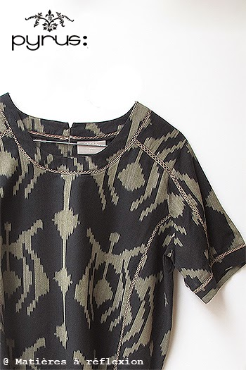 Top imprimé ikat soldé -50% Pyrus London