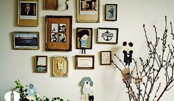 Memercantik dinding dapat dilakukan dengan tampilan frame foto