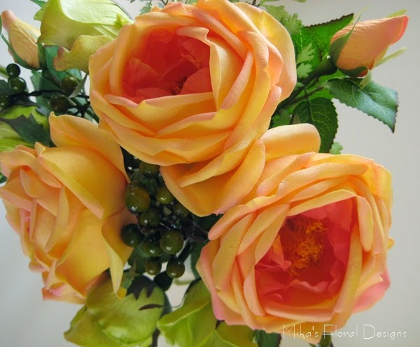 Apricot Cabbage Roses