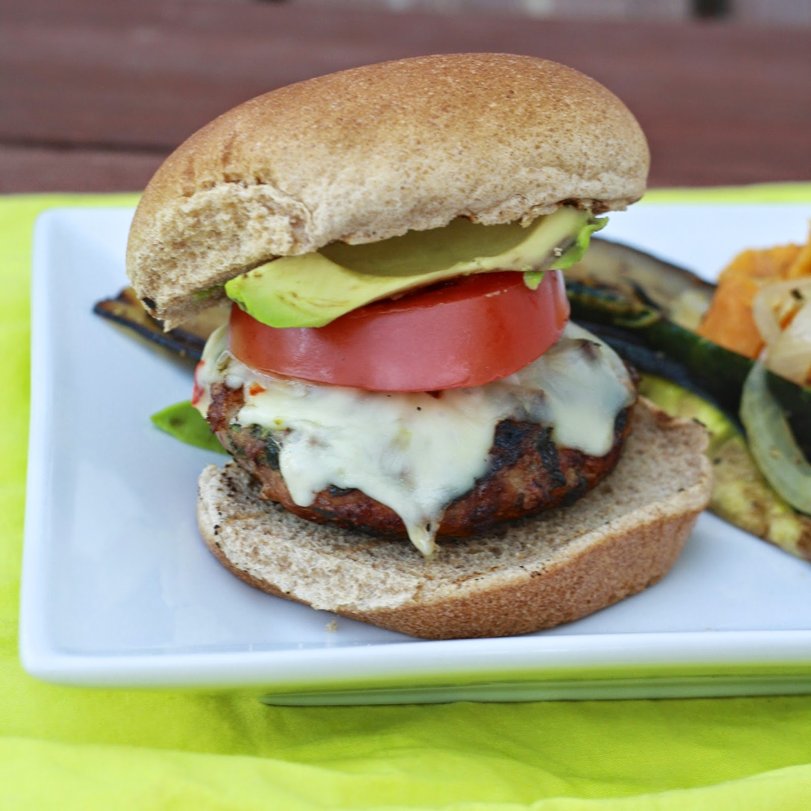 Cilantro Turkey Burgers with Pepperjack and Avocado | The Sweets Life