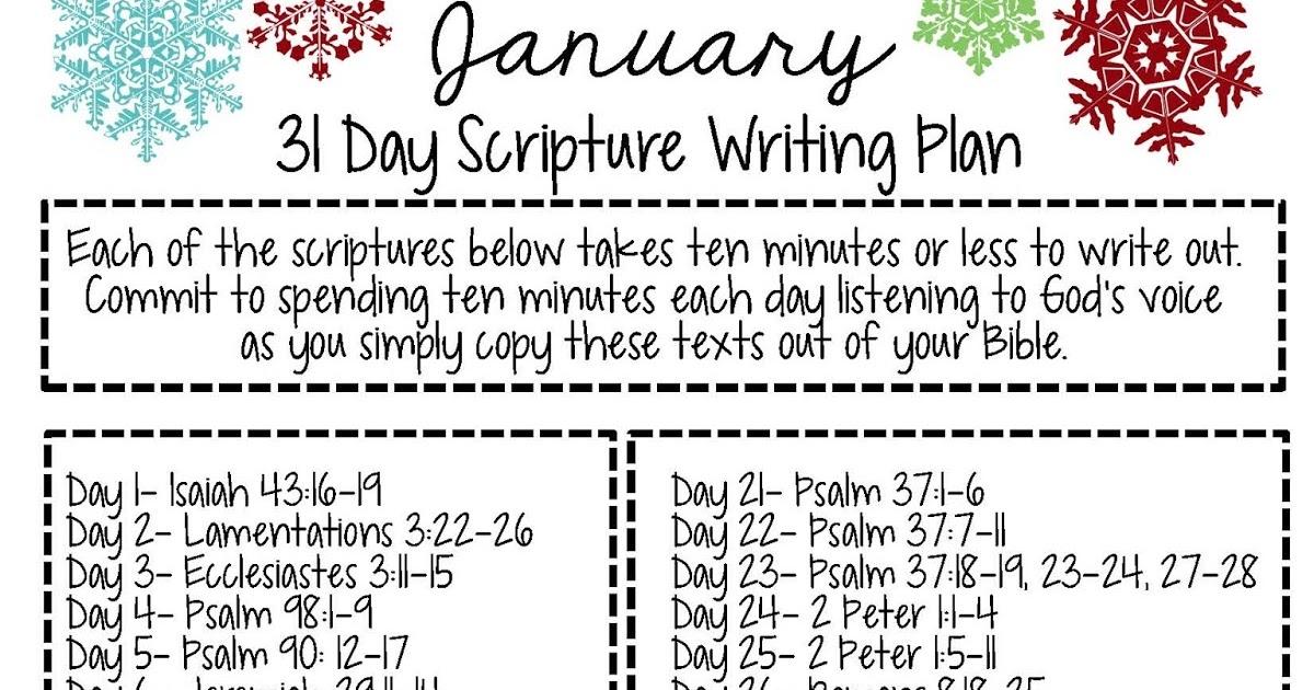 Sweet Blessings: January Scripture Writing Plan 2016