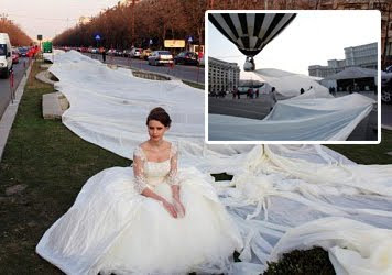 World Longest Wedding Dress