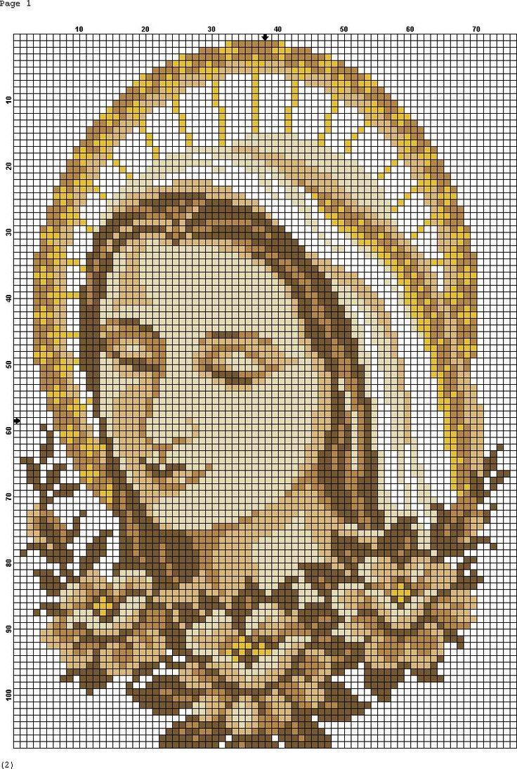 Arte em ponto cruz religioso gr fico - Labores en punto de cruz ...