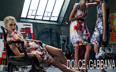 Dolce & Gabbana Models with Colorful Dresses HD Wallpaper