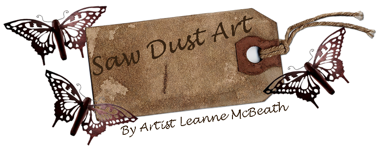 saw dust art