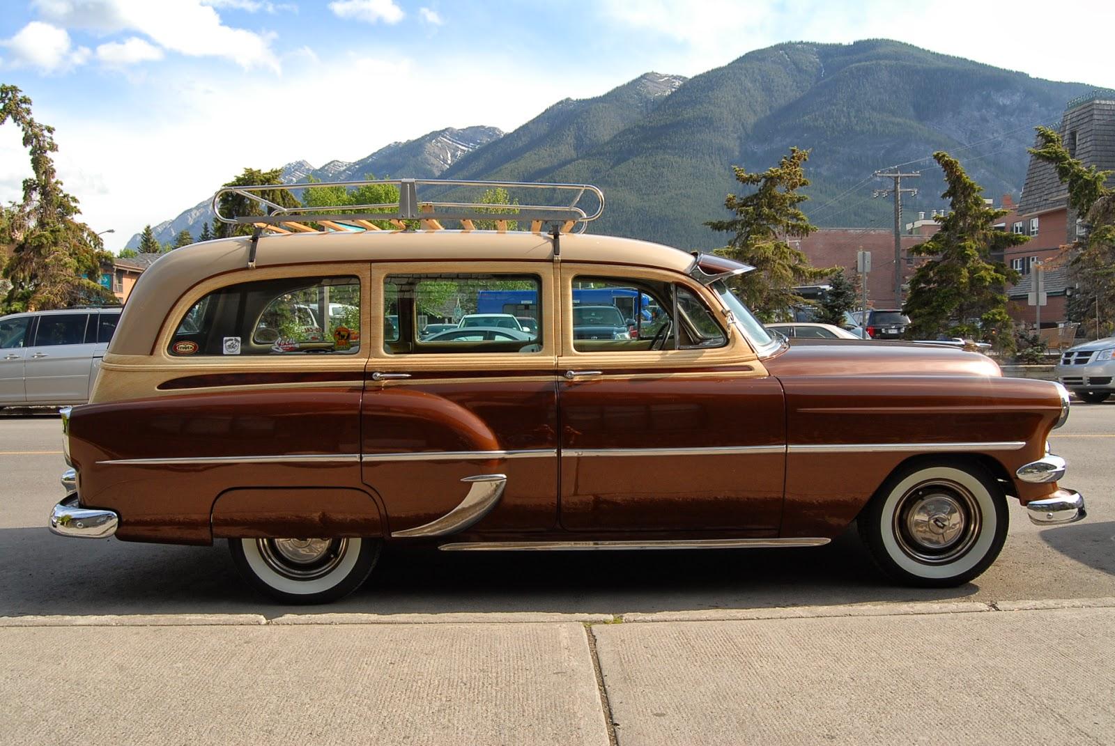 Chevrolet chevrolet station wagon : autoliterate: 1954 Chevrolet station wagon, Banff