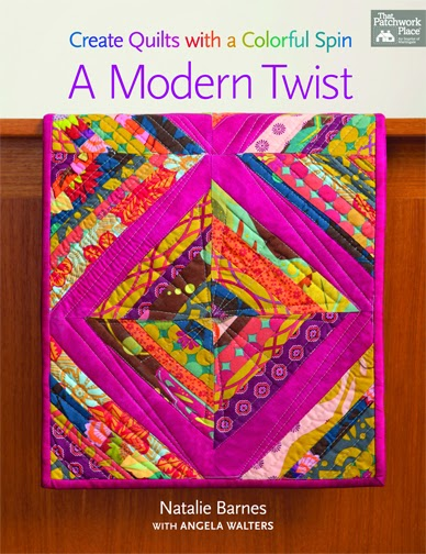 http://www.amazon.com/Modern-Twist-Create-Quilts-Colorful/dp/1604684992/ref=sr_1_1?s=books&ie=UTF8&qid=1420324023&sr=1-1&keywords=a+modern+twist+create+quilts+with+a+colorful+spin