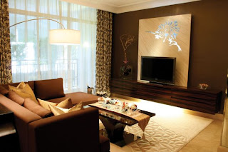 Brown-color-character-apartment-family-room-design