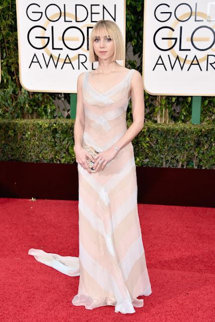 Zoe Kazan Miu Miu Golden Globes 2016