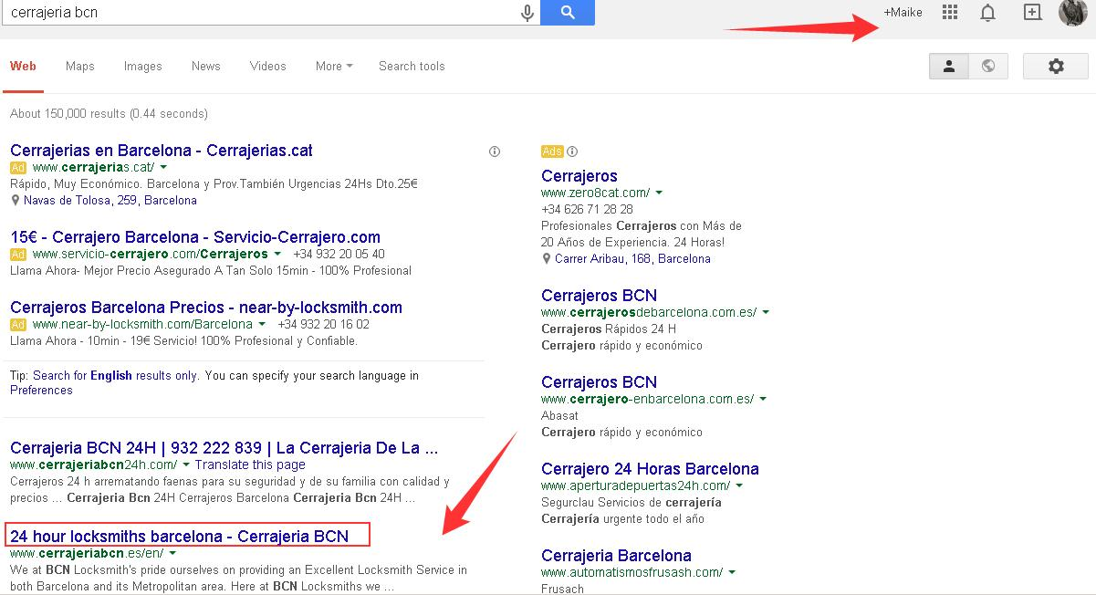 Appear in search results with Google+
