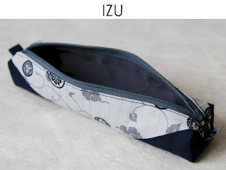 Federmäppchen Izu aus japanischen Stoffen von Noriko handmade, handgemacht, Einzelstück, Unikat, Design, Stiftetui, Mäppchen, Federmappe